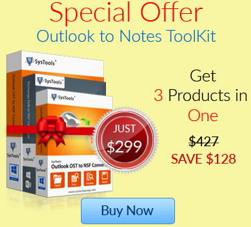 Bundle offer of Outlook to Notes